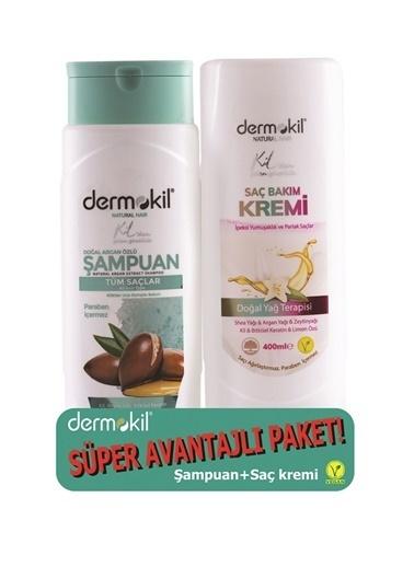 Dermokil Dermokil Argan Şampuan + Saç Kremi-2'liAvantajlı Set-400 ml Renksiz